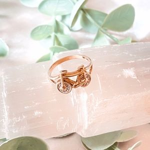 ✺ Bicycle Solid Gold Ring  10K~6.25 ✺